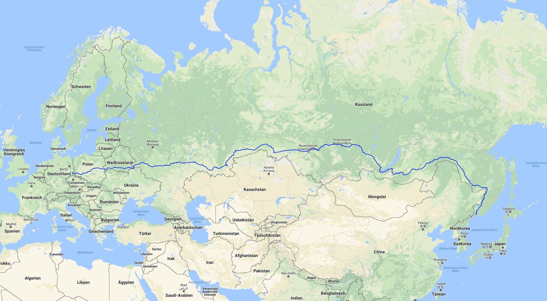 Karten Mit Der Route Unserer Pick Up Reise Durch Russland Dietmar Und Geli Unterwegs